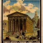 Affiche pour le Syndicat d'iniative de Nîmes, d'après un tableau d'Hubert Robert