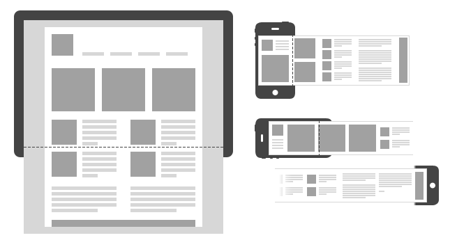 horizontal-mobile-responsive-layout