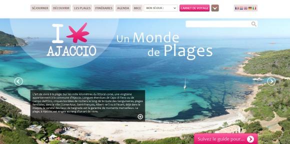 Nouveaux sites web de destinations touristiques mars 2014 - Ajaccio office de tourisme ...