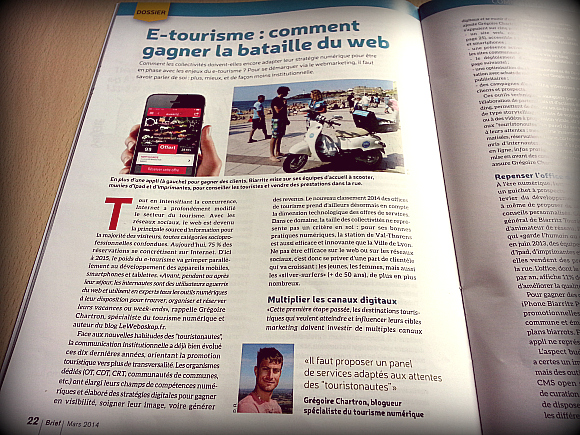 Contribution au magazine Brief de mars 2014