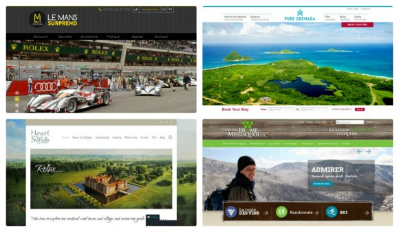 Nouveaux sites web de destinations touristiques (Mars 2014)
