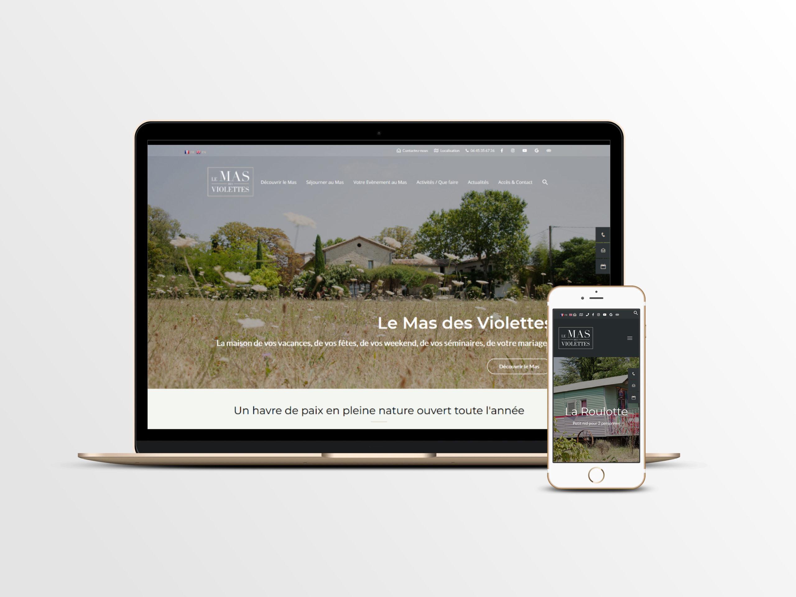 Refonte du site Web du Mas des Violettes